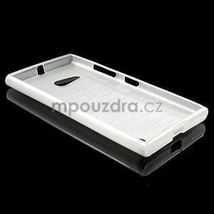Gelový obal Brush na Nokia Lumia 730/735 - bílý - 3
