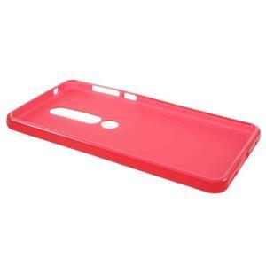 Matný gelový obal na Nokia 6.1 - červený - 3
