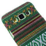 Obal potažený látkou na Samsung Galaxy A3 - zelený - 3/5