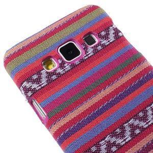 Obal potažený látkou na Samsung Galaxy A3 - rose - 3