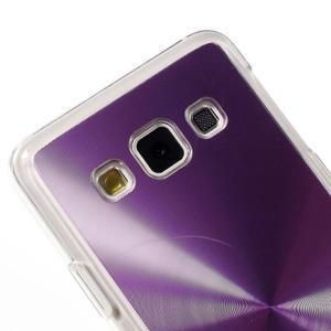 Metalický plastový obal na Samsung Galaxy A3 - fialový - 3