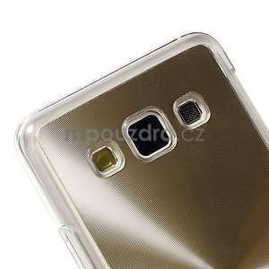 Metalický plastový obal na Samsung Galaxy A3 - zlatý - 3