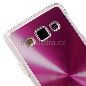 Metalický plastový obal na Samsung Galaxy A3 - růžový - 3