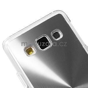 Metalický plastový obal na Samsung Galaxy A3 - stříbrný - 3