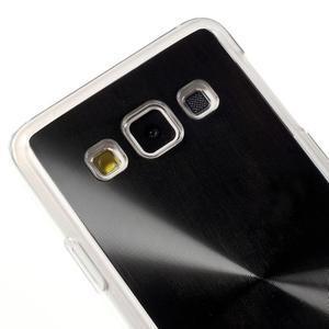 Metalický plastový obal na Samsung Galaxy A3 - černý - 3
