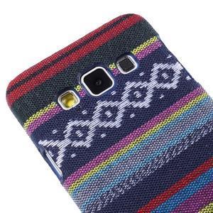 Obal potažený látkou na Samsung Galaxy A3 - mix barev II - 3
