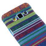 Obal potažený látkou na Samsung Galaxy A3 - mix barev I - 3/5