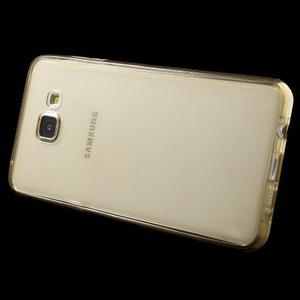 Gelový obal 2v1 pro zadní kryt a displej na Samsung Galaxy A5 (2016) - zlatý - 3