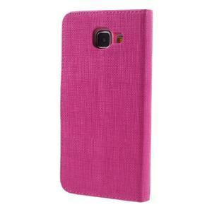 Cloth peněženkové pouzdro na Samsung Galaxy A5 (2016) - rose - 3