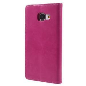 Luxusní PU kožené pouzdro na mobil Samsung Galaxy A5 (2016) - rose - 3
