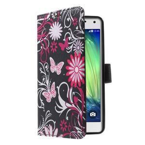 Koženkové pouzdro na Samsung Galaxy A5 (2016) - kouzelní motýlci - 3