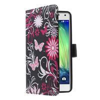 Koženkové pouzdro na Samsung Galaxy A5 (2016) - kouzelní motýlci - 3/6