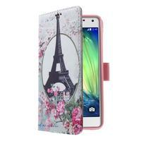 Koženkové pouzdro na Samsung Galaxy A5 (2016) - Eiffelova věž - 3/6