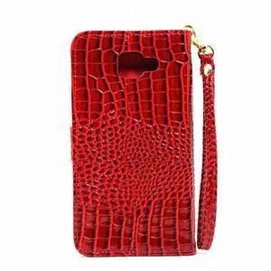 Croco peněženkové pouzdro Samsung Galaxy A5 (2016) - červené - 3