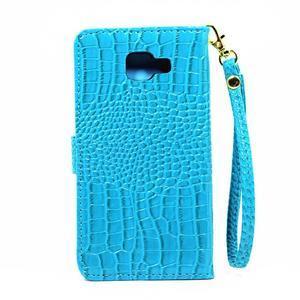 Croco peněženkové pouzdro Samsung Galaxy A5 (2016) - modré - 3