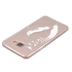 Transparentní gelový obal na Samsung Galaxy A5 (2016) - ptačí peříčka - 3