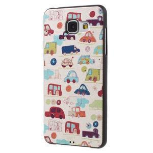Gelový obal s koženkovým vzorem na Samsung Galaxy A5 (2016) - autíčka - 3
