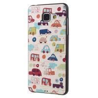 Gelový obal s koženkovým vzorem na Samsung Galaxy A5 (2016) - autíčka - 3/6