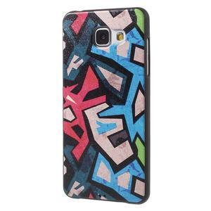 Gelový obal s koženkovým vzorem na Samsung Galaxy A5 (2016) - grafity - 3