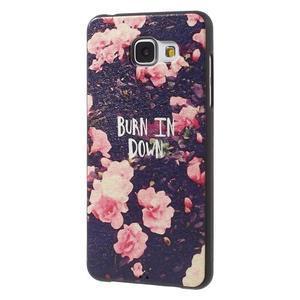 Gelový obal s koženkovým vzorem na Samsung Galaxy A5 (2016) - růže - 3