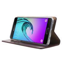 Moon PU kožené pouzdro na Samsung Galaxy A5 (2016) - vínové - 3/7
