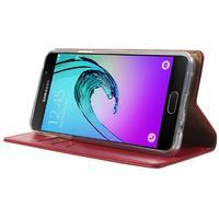 Moon PU kožené pouzdro na Samsung Galaxy A5 (2016) - červené - 3/7