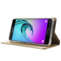 Moon PU kožené pouzdro na Samsung Galaxy A5 (2016) - zlaté - 3/7