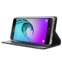 Moon PU kožené pouzdro na Samsung Galaxy A5 (2016) - tmavěmodré - 3/7