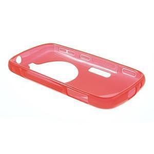 Červený s-line gelový kryt na Samsung Galaxy K Zoom C115 - 3
