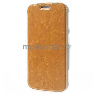 Oranžové peněženkové pouzdro na Samsung Galaxy K Zoom C115 - 3