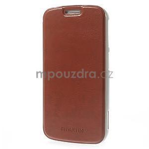 Hnědé peněženkové pouzdro na Samsung Galaxy K Zoom C115 - 3