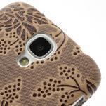 Květinové pouzdro na Samsung Galaxy S4 - hnedé - 3/3