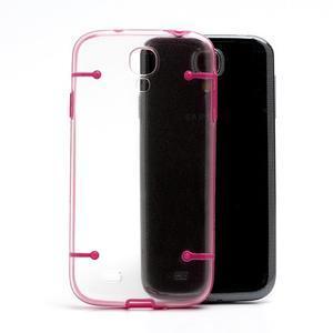 Obal na mobil se svítícími hranami na Samsung Galaxy S4 - rose - 3