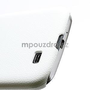 Plastové poudro na Samsung Galaxy S4 - bílé - 3