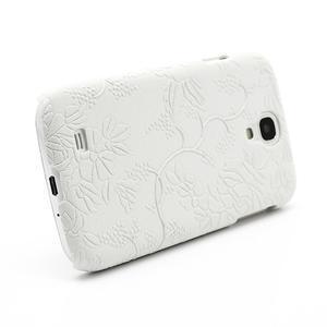 Květinové pouzdro na Samsung Galaxy S4 - bílé - 3