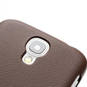 Plastové poudro na Samsung Galaxy S4 - hnedé - 3