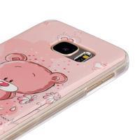 Gelový kryt na mobil Samsung Galaxy S7 - medvídek - 3/4