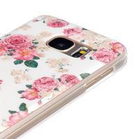 Gelový kryt na mobil Samsung Galaxy S7 - květiny - 3/4