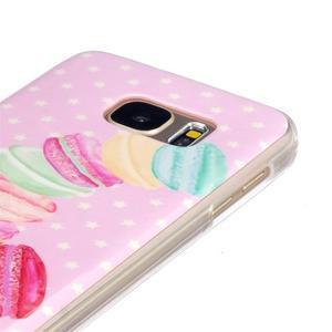 Gelový kryt na mobil Samsung Galaxy S7 - makrónky - 3
