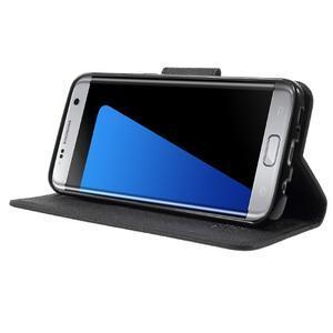 Mercury Orig PU kožené pouzdro na Samsung Galaxy S7 Edge - černé - 3