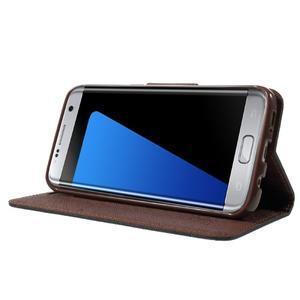 Mercury Orig PU kožené pouzdro na Samsung Galaxy S7 Edge - černé/hněé - 3
