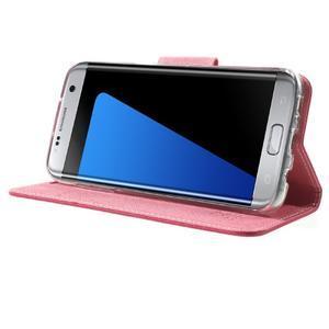 Mercury Orig PU kožené pouzdro na Samsung Galaxy S7 Edge - rose - 3
