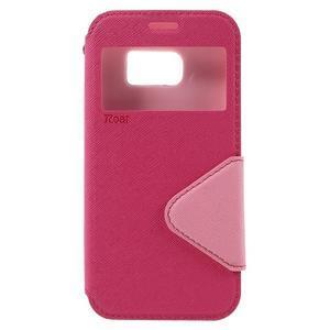 Diary pouzdro s okýnkem na Samsung Galaxy S7 - rose - 3
