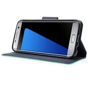 Mercury Orig PU kožené pouzdro na Samsung Galaxy S7 Edge - azurové - 3