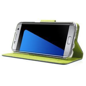 Mercury Orig PU kožené pouzdro na Samsung Galaxy S7 - tmavěmodré - 3