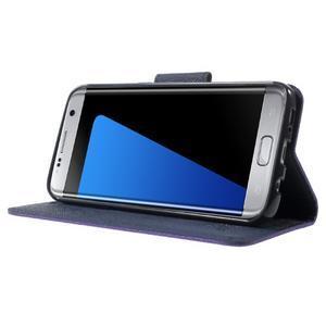 Mercury Orig PU kožené pouzdro na Samsung Galaxy S7 Edge - fialové - 3