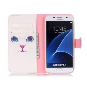 Cross peněženkové pouzdro na Samsung Galaxy S7 - kočička - 3