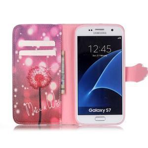 Cross peněženkové pouzdro na Samsung Galaxy S7 - pampeliška - 3