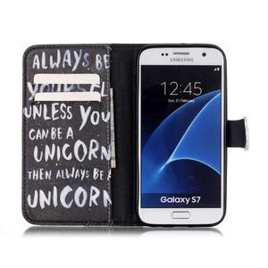 Cross peněženkové pouzdro na Samsung Galaxy S7 - unicorn - 3