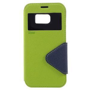 Diary pouzdro s okýnkem na Samsung Galaxy S7 - zelené - 3